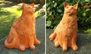 Kot wykonany z gliny szamotowej
