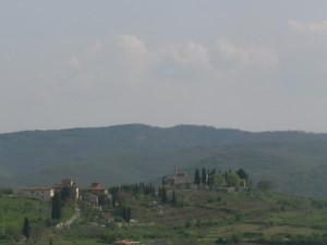 Widok na okolice Chianti, Toskania