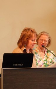 Organizator spotkania Bernadeta Grochowska i tlumacz wspomnien Pani Mirella Spilla