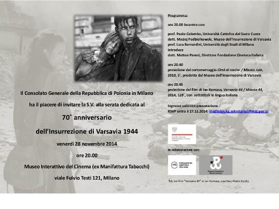 zaproszenie_polacy_w_wloszech_Insurrezione di Varsavia 1944