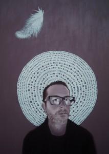 ritratto di DINO MORRA,anno 2013,olio su tela,70 cm x 100 cm