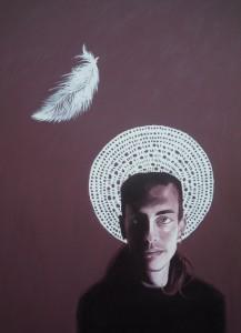 ritratto di EUGENIO VIOLA, 2013,olio su tela,70 cm x 100 cm