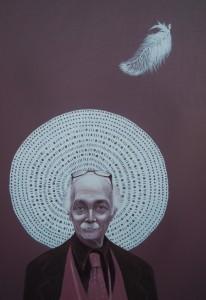 ritratto di SILVIO FRIGERIO, 2014,olio su tela,70 cm x 100 cm