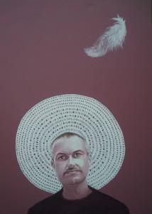 ritratto di VINCENZO SEVERINO, 2014,olio su tela,70 cm x 100 cm