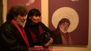 z wystawy RITRATTO DI NAPOLI,z dziennikarzem BRUNO AYMONE