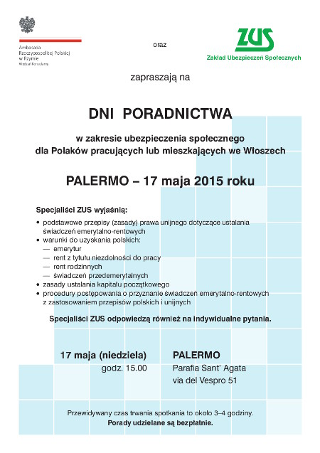 808_15 Dnia Poradnictwa - plakat (Palermo)