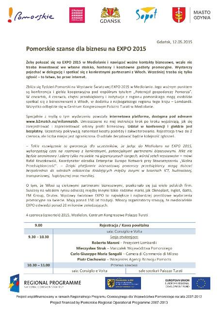 Pomorskie szanse dla biznesu na EXPO 2015_1