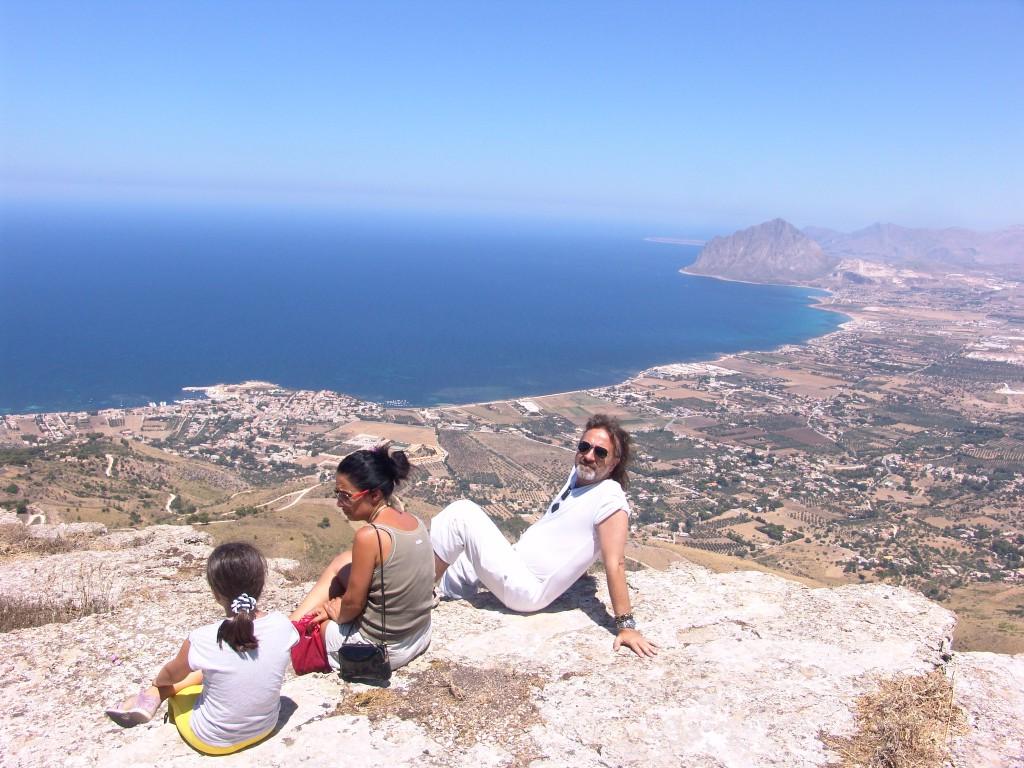 Widok z Erice na Monte Cofano