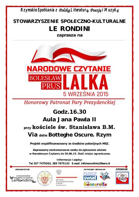 NC 2015 Lalka ULOTKA