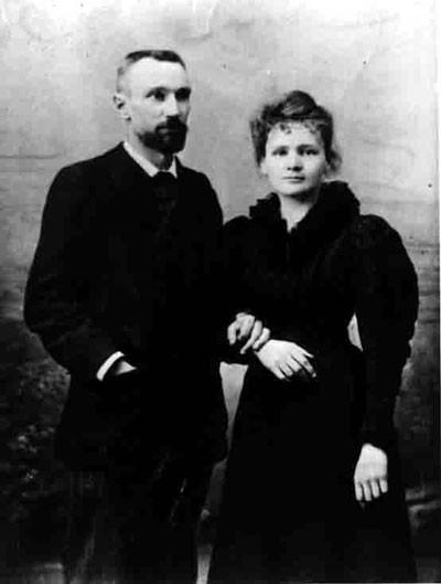 M. Curie z Paul Langevin